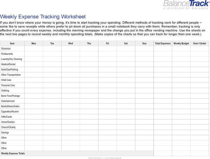 Budget Tracking Spreadsheet