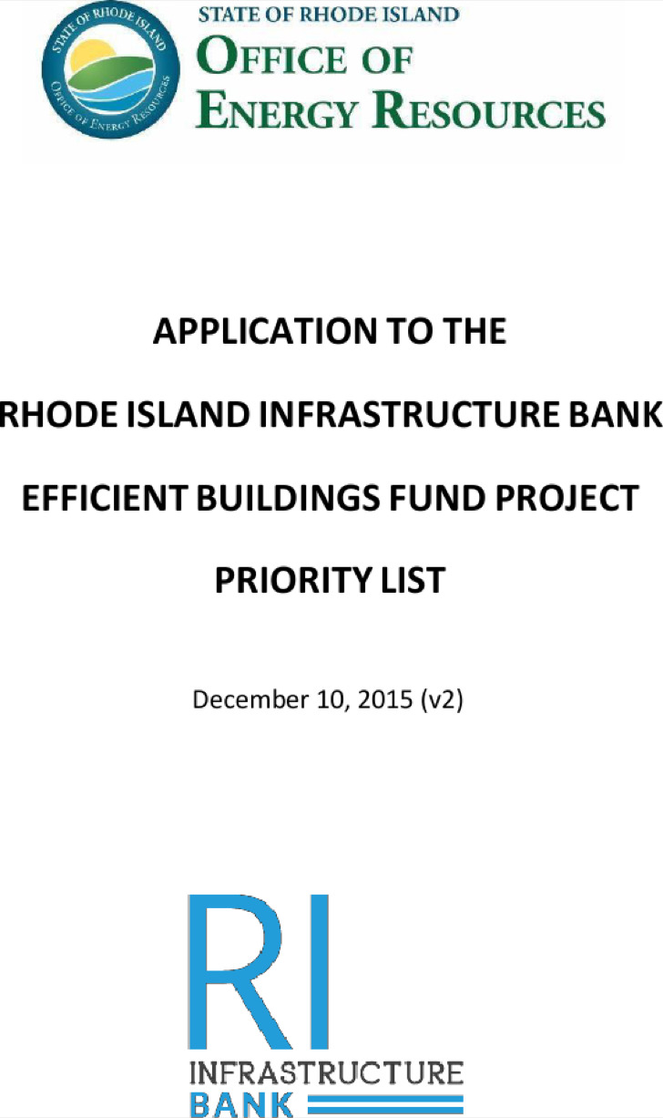Buildings Fund Project Priority List Application Template