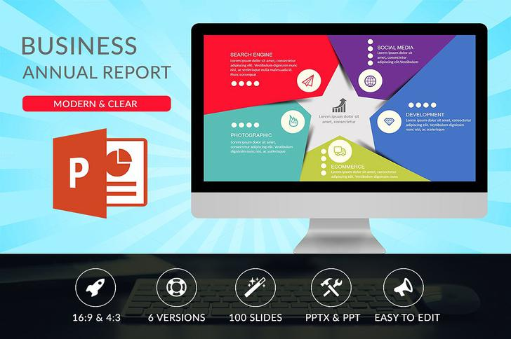 Business Annual PPT Report Template