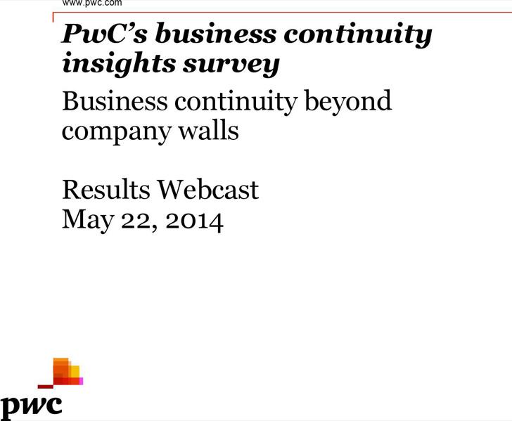 Business Continuity Survey Template