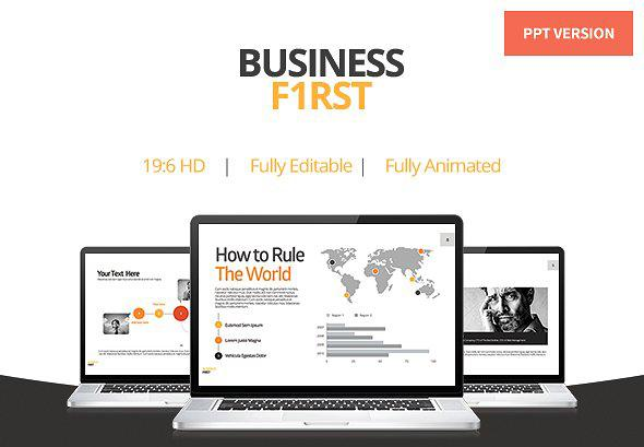 Business First Animated Powerpoint Template
