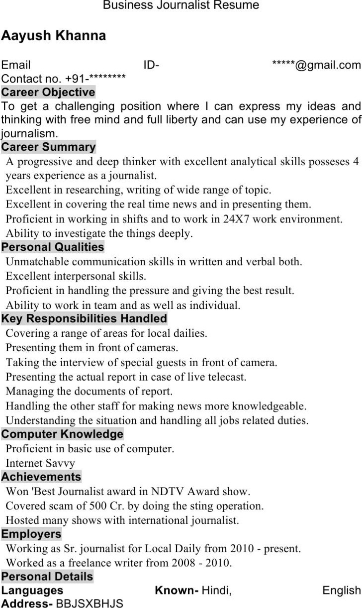 sample journalist resume journalist resume templates download free premium journalist resume templates