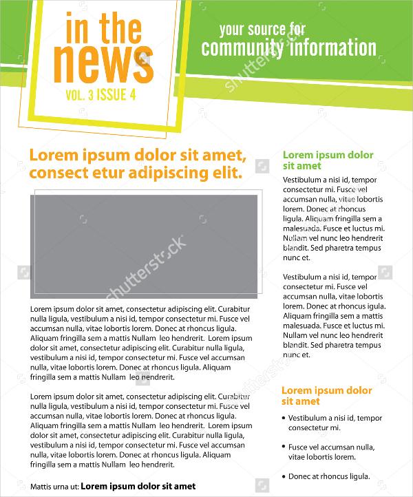 Business Newsletter Organization Template