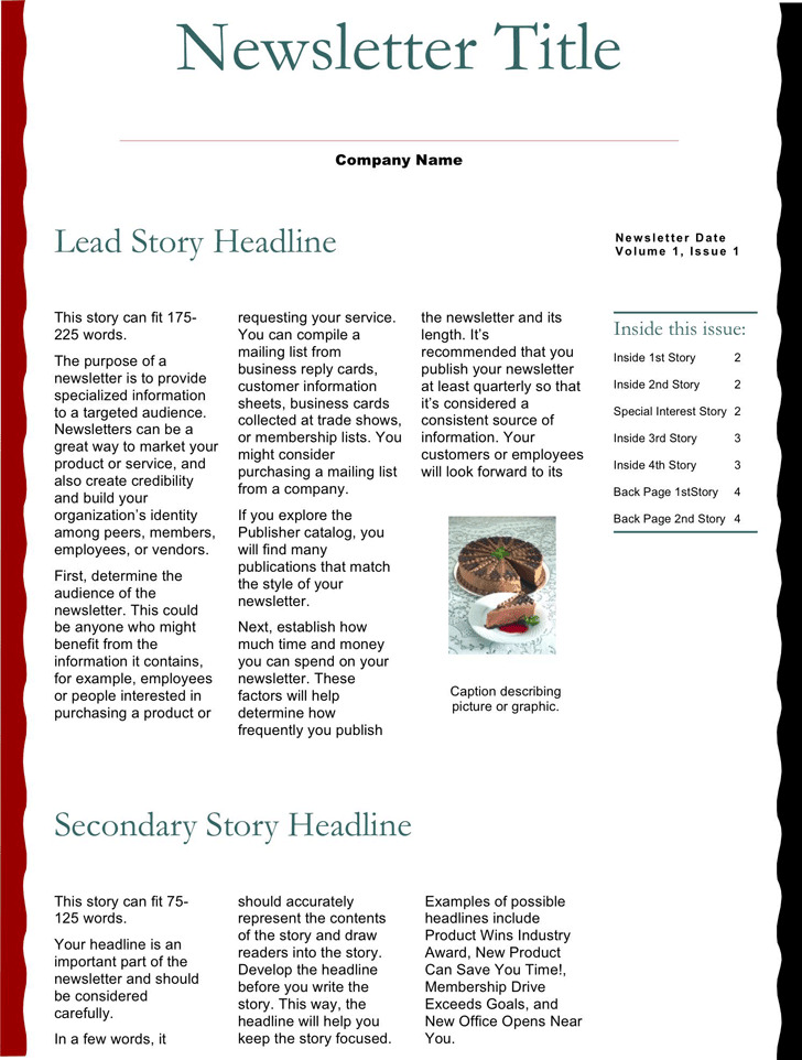 Business Newsletter Template 1