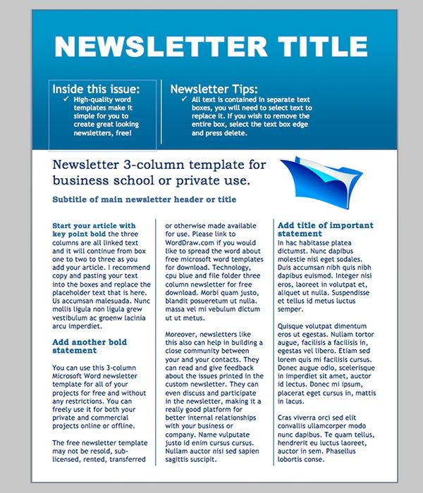 Business Newsletter Template 5