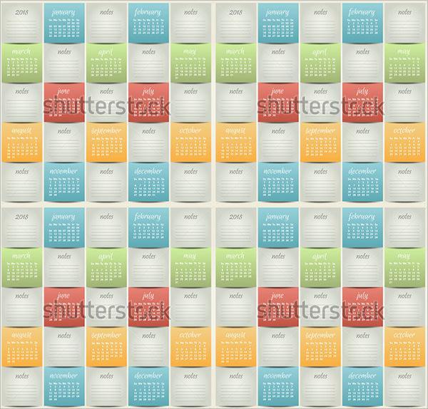 Business Pocket Calendar Template