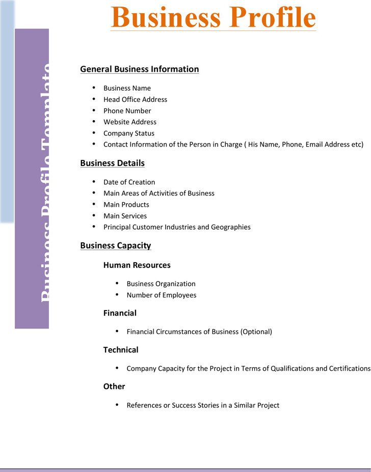 Business Profile Template  Download Free  Premium Templates