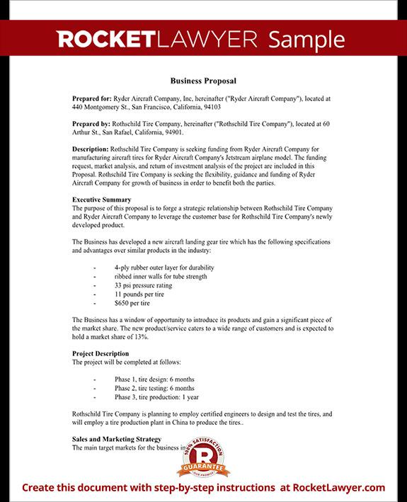 Word Business Proposal Template Sample Business Proposal Template
