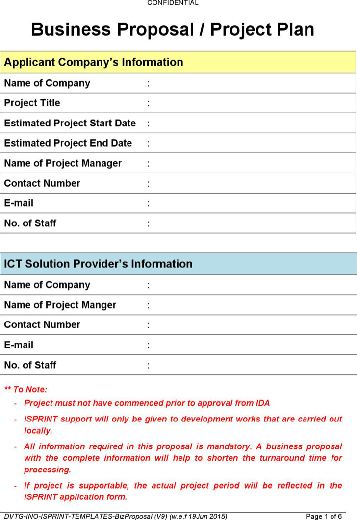Proposal Templates  Download Free  Premium Templates Forms