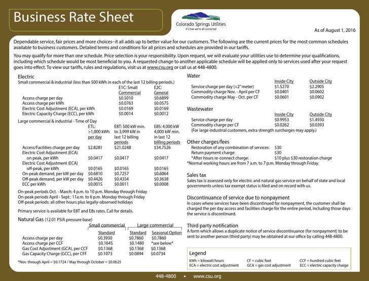Rate Sheet Templates – Rate Sheet Template