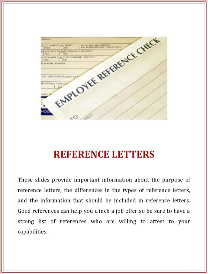 Business Reference Letter For Employment