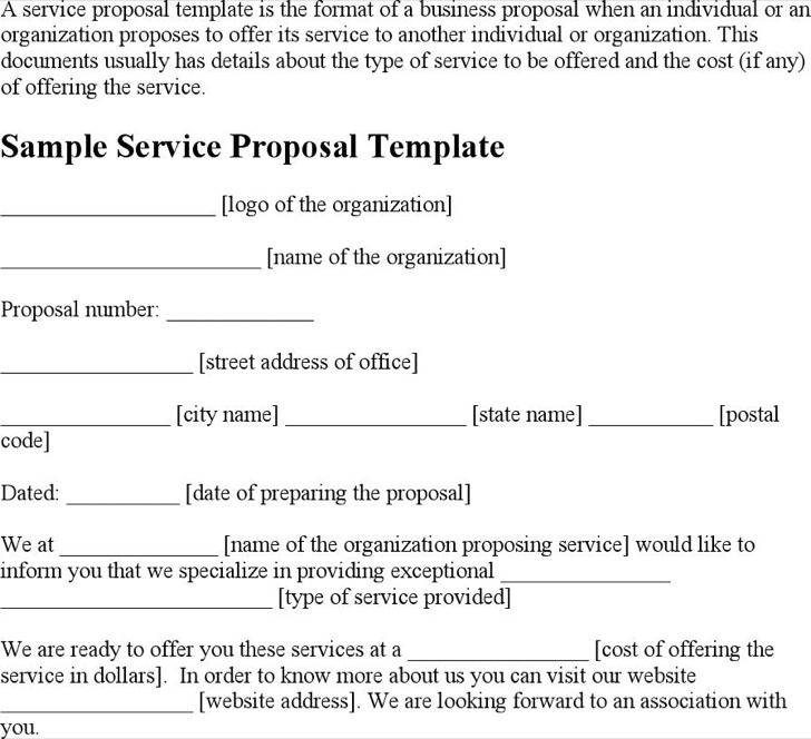 Service Proposal Templates  Download Free  Premium Templates