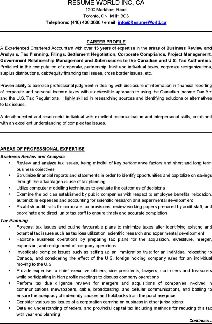 Chartered Accountant Resume Templates  Download Free  Premium