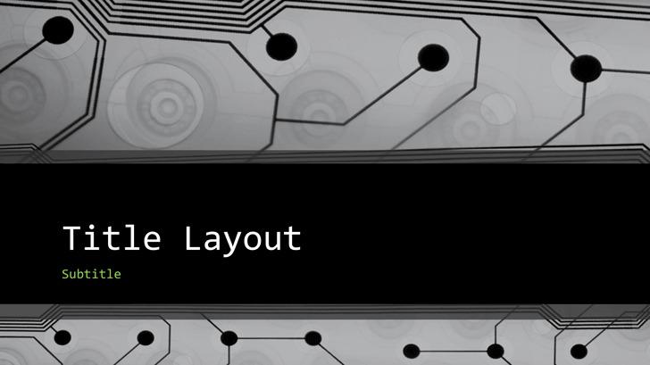 Business Technology Circuit Board Design Presentation Widescreen