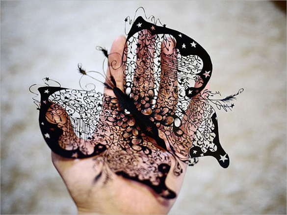 Butterfly Paper Art Design