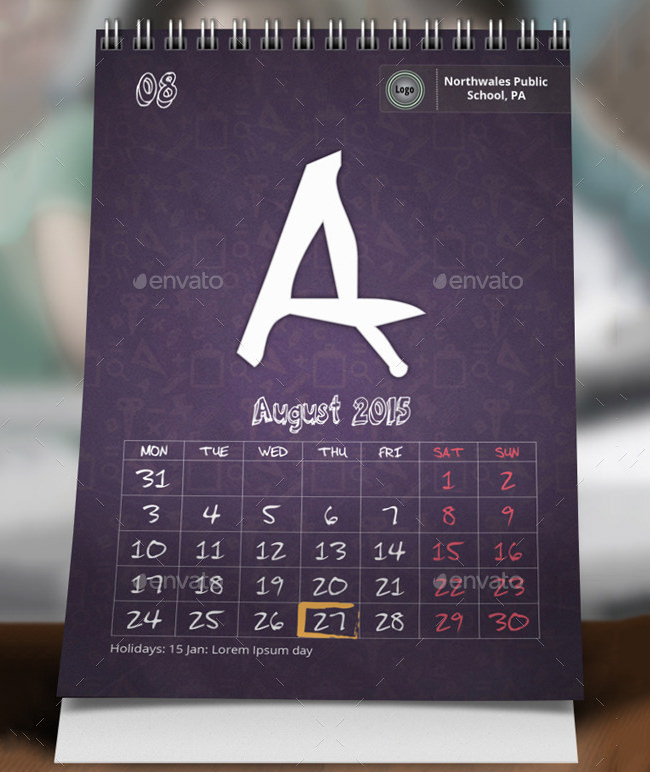 Calendar Template for Kids