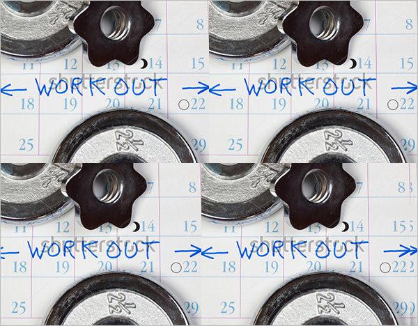 Calendar Workout Template