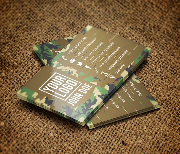 Camouflage Business Card
