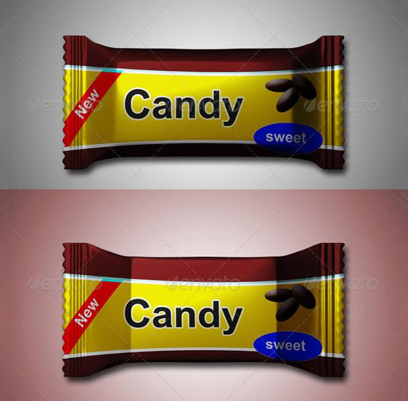 Candy Wrapper MockUp Photoshop