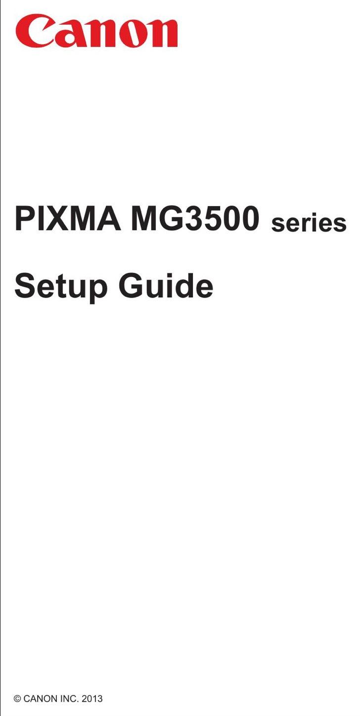 Canon Setup Guide Sample