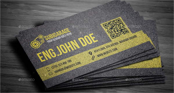 Car Mechanic Business Card