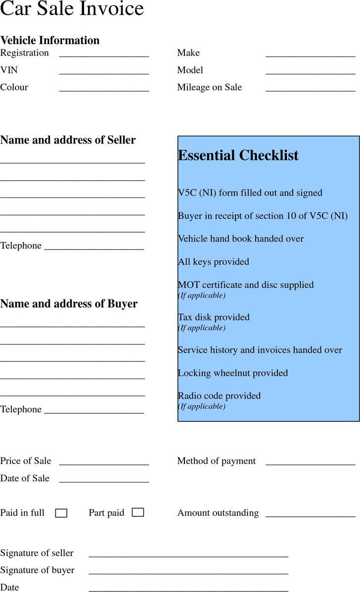 Car Payment Receipt Template