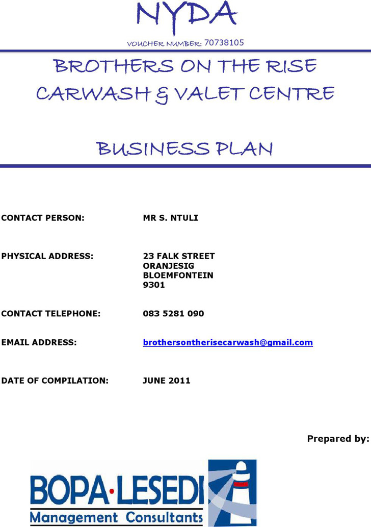 Car Wash Business Plan Templates  Download Free  Premium