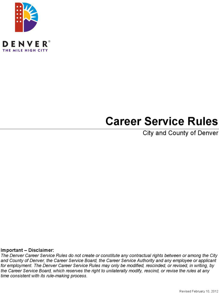 Career Service Hr Rules Template
