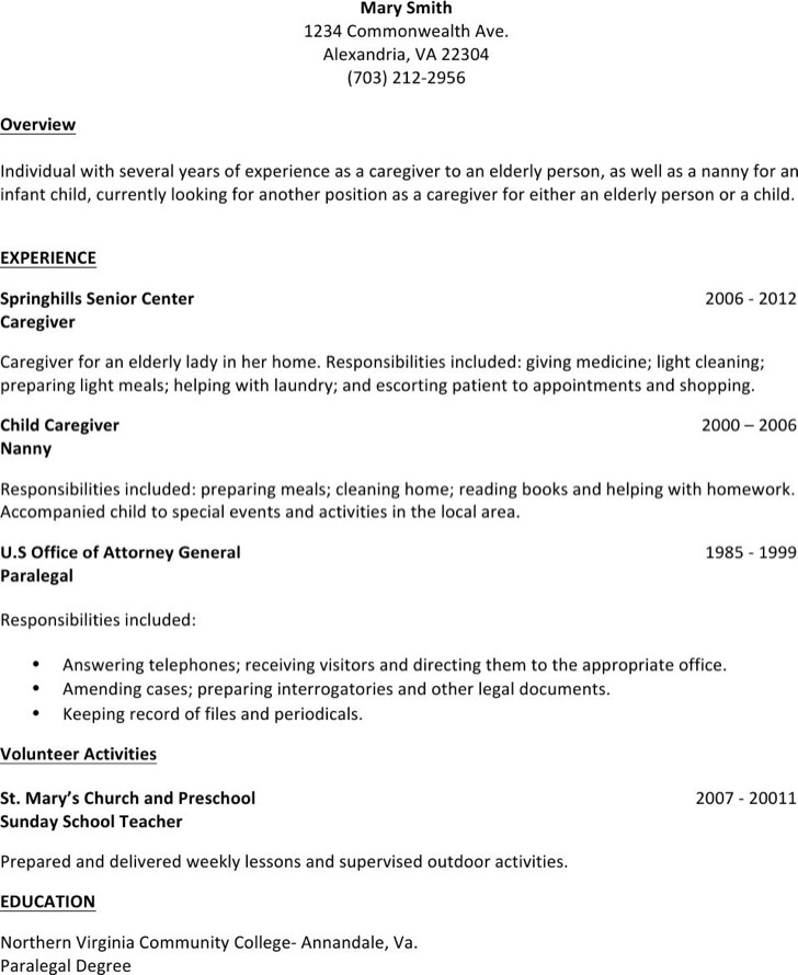 Caregiver And Nanny Position Revmay14