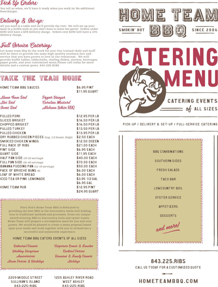 catering menu proposal template