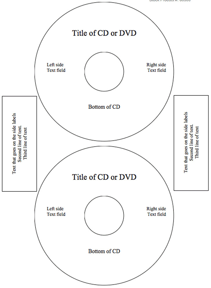 CD Label Template 2