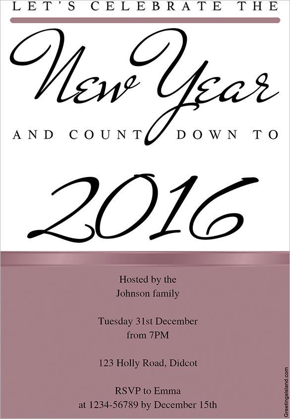 Celebrate The New Year Invitation Template Download