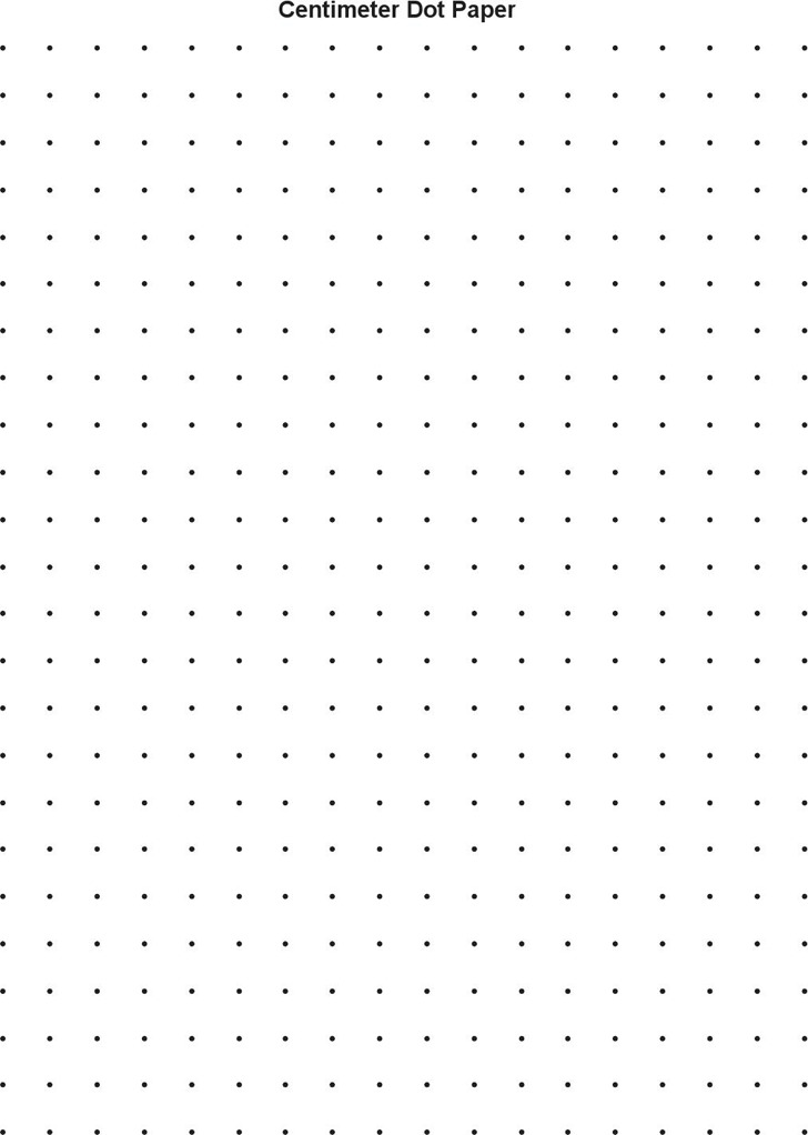 Centimeter Dot Paper