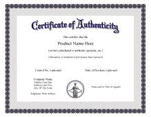 Certificate of authenticity templates download free for Certificate of authenticity autograph template