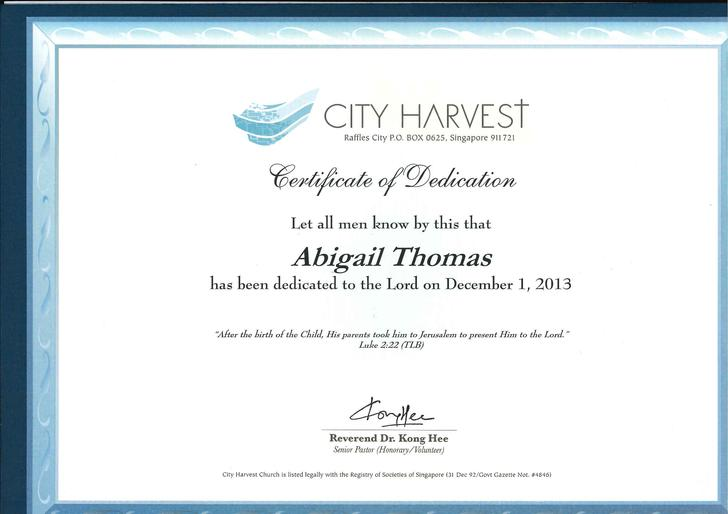 Certificate Of Baby Dedication  Baby Dedication Certificates Templates