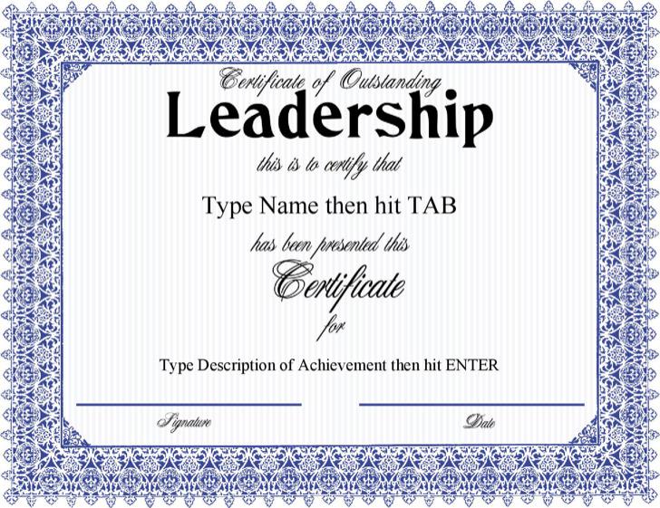 5  leadership certificate templates free download