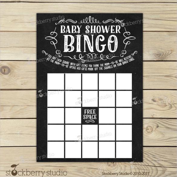 Chalkboard Baby Shower Bingo Game Printable