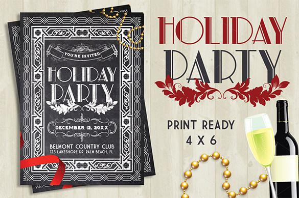 Chalkboard Holiday Party Flyer - $8