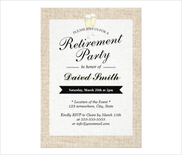 Cheers Rustic Retirement Party Invitation