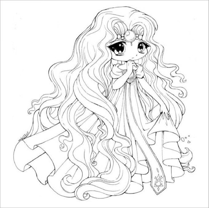 Coloring Book For Me Premium Download Printable Chibi Templates Colouring Pages