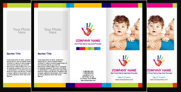 Child Care Cute Brochure Template