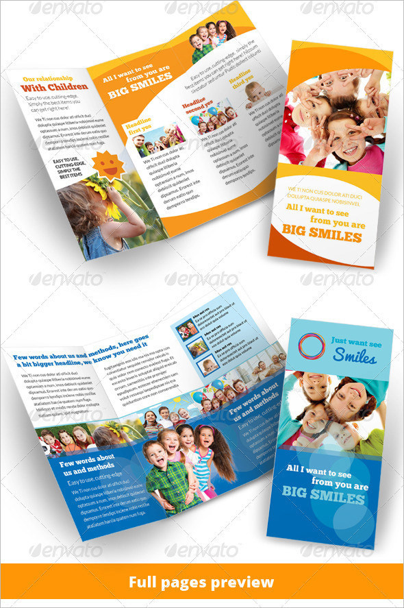 Kindergarten Brochure Templates  Download Free  Premium