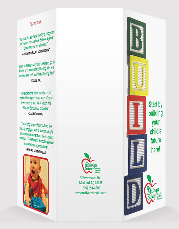 Child Day Care Brochure Template