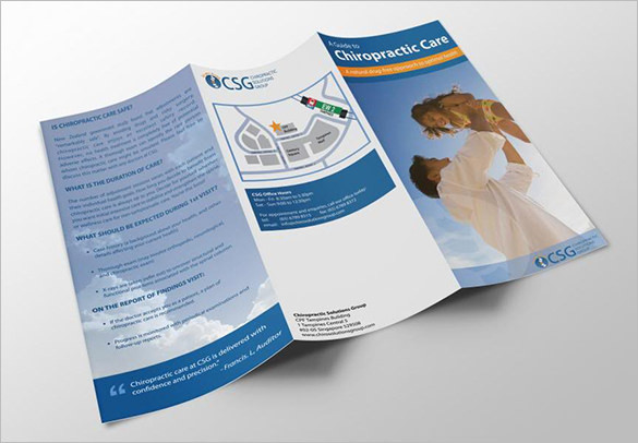 Chiropractic Solutions Brochure Closeup Template