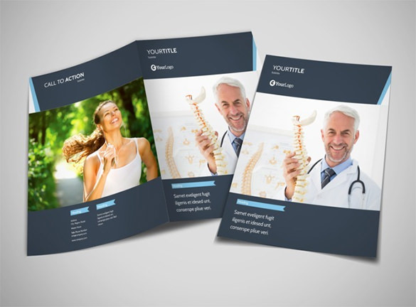 Chiropractor Therapy Bi-Fold Brochure Template