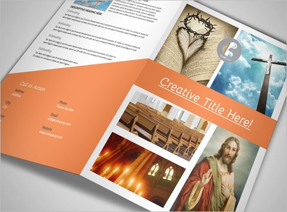 Christian Ministry Church Brochure Template