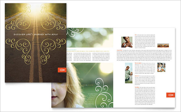 Christian Religious Church Brochure Template