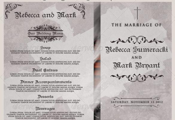 Christian Wedding Program Template For Download