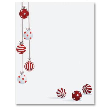 Charming Christmas Bells Writing Paper Lined Template Pdf