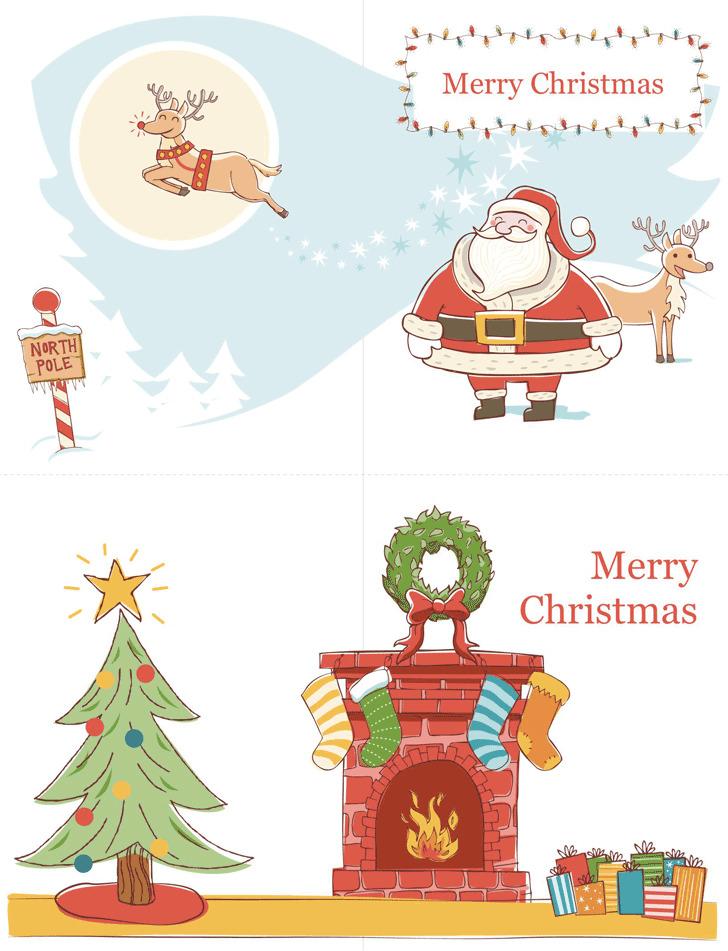 Christmas Card Template 2